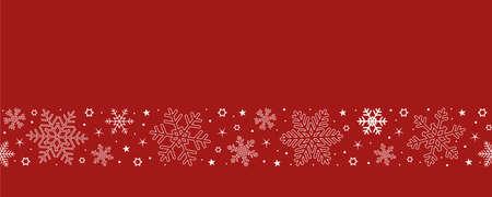christmas card with seamless pattern snowflake border Иллюстрация