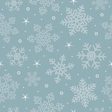 blue and white seamless pattern snowflake background