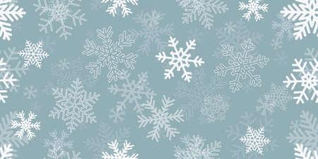 bright blue seamless snowflake christmas winter background Иллюстрация