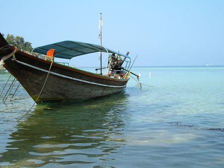 釣りボート 写真素材