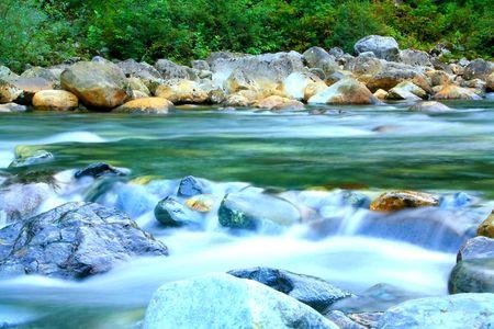 かなりの渓流 写真素材