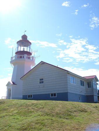 青い空を背景に灯台