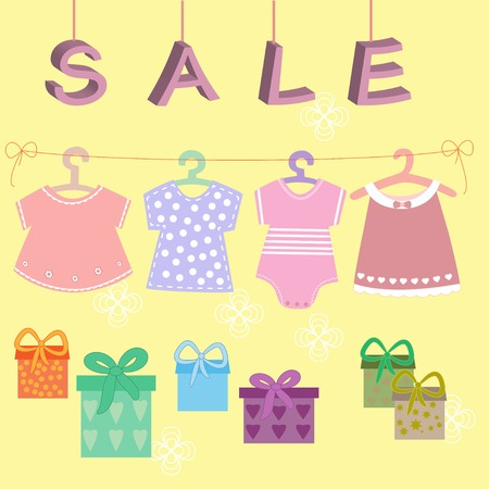 babies clothes kids icons collection for sale