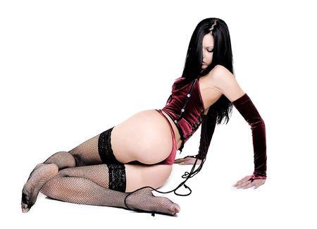 mujeres eroticas: Chica caliente en ropa interior roja