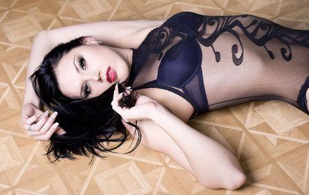 Lingerie model photo