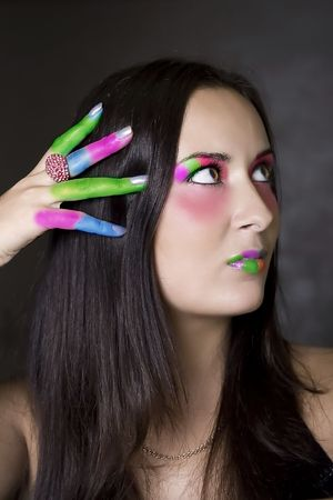Colored fingers photo