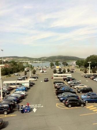 Bekijk van een parkeerplaats