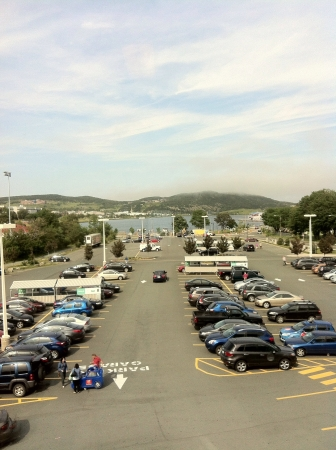 View of a parking lot Imagens
