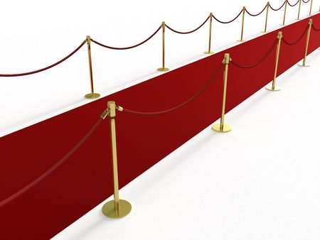 Red carpet from the side Stock Photo