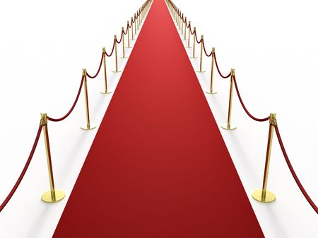infinitely: Infinitely long red carpet