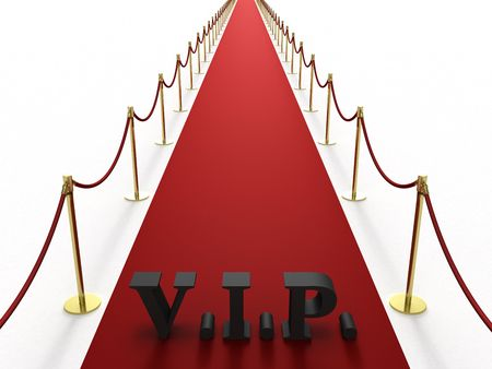 Red carpet with V.I.P. sign photo