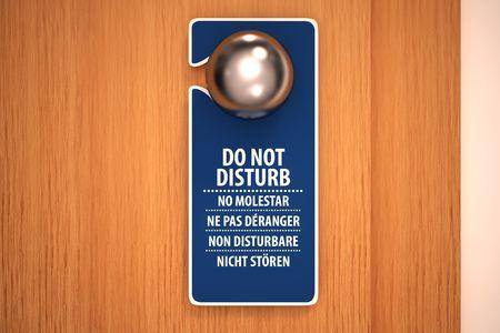 No perturben la señal en un pomo de la puerta