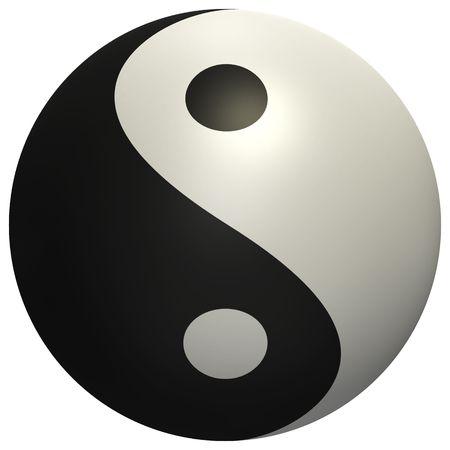 High quality render of Yin Yang ball photo
