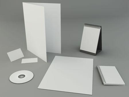 Bright design presentation template photo
