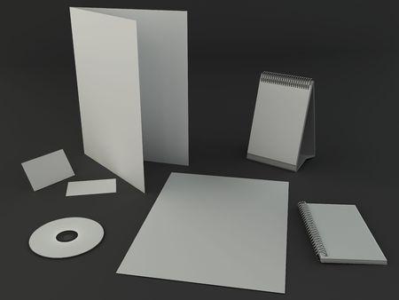 Dark design presentation template