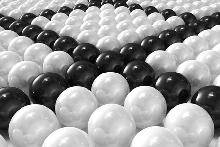 White and black patterned 3D balls Stock Photo - 7906407