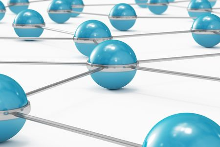 Network made out of blue balls Stock Photo - 7906411