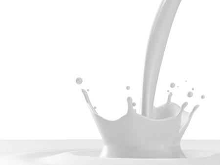Pouring milk splash with copyspace Stock Photo