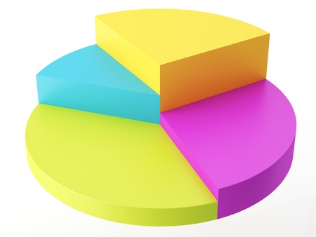 Colorful 3D pie chart Stock Photo - 8183571