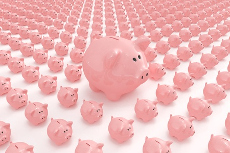 Big piggy bank standing out