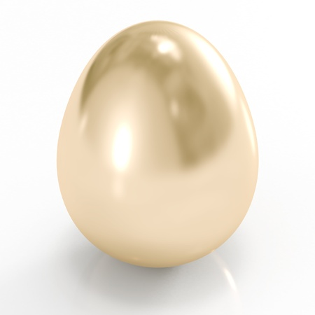 Golden egg isolated on a white background photo