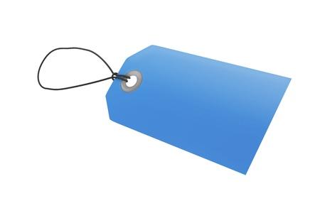 Blue price tag  Stock Photo