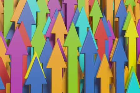 Colorful arrows photo