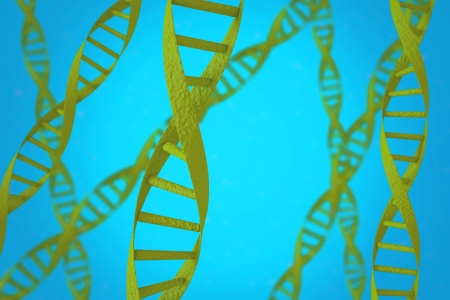 Green DNA helices with shallow depth of field Stock Photo - 16571494