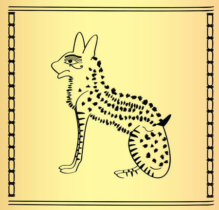 Traditional Egyptian cat for design Vector