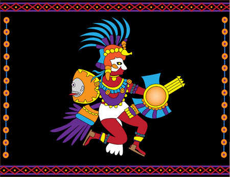 Traditional Aztec god of sun Stock Vector - 6159562