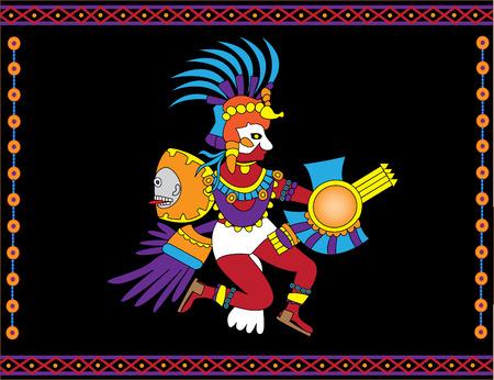 Traditionnelle Aztec Dieu du soleil