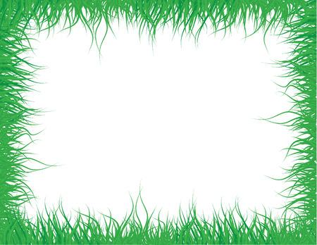 Green grass frame for design Stock Vector - 6198670