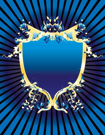 Blue vintage banner for design Vector