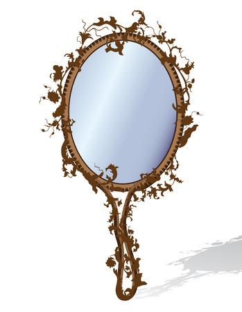 Mirror in floral frame Illustration