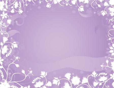 Violet floral frame for design Vector