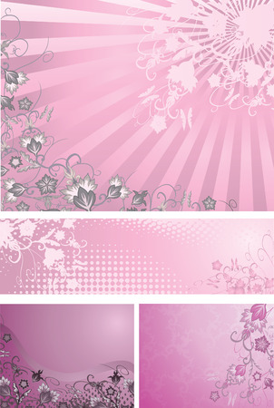 Pink and purple backgrounds collection Stock Vector - 6563605