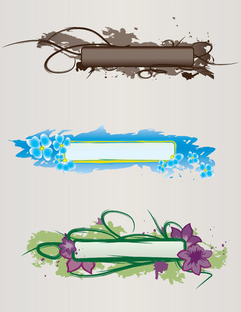Set of hand-drawn banners for design Vector
