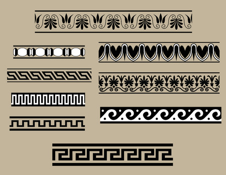 Traditional architectural ornament set for design Vector