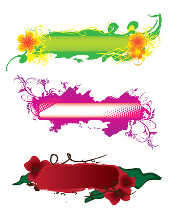 Set of hand-drawn banners for design Stock Vector - 6755803
