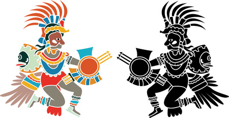 Quetzalcoatl stencil