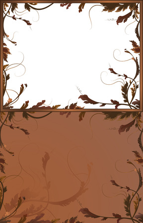 Fantasy background with brown branches in two variants Stock Vector - 6964944