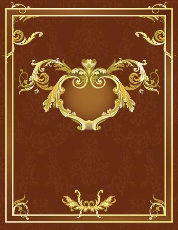 composition book: Vintage template for design