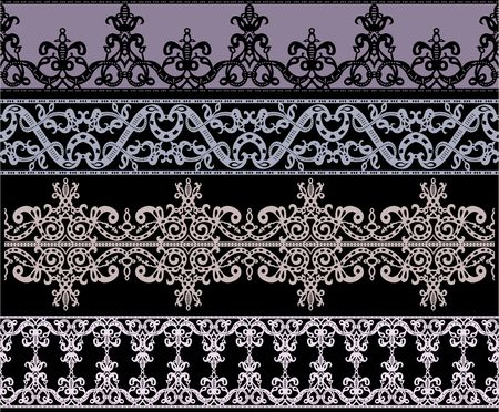 gothic architecture: Traditional gothic ornament set