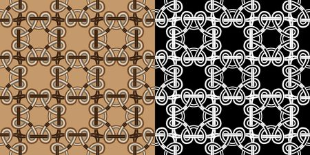 Traditional celtic seamless in two variants vector illustration for design Vector
