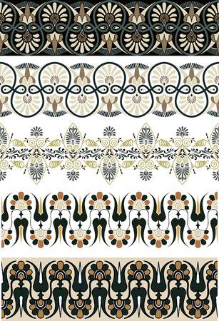 Ancient Greek ornament set for design Illustration