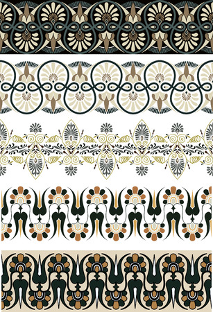 the architecture is ancient: Ancient Greek ornament set for design Illustration