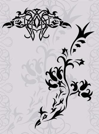 Fantasy phoenix tattoo silhouette  Stock Vector - 7553899