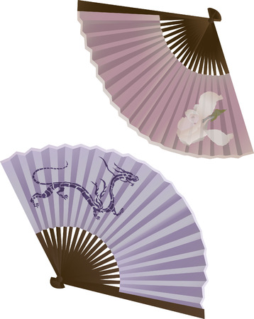 The traditional Japanese fan, two variants Stock Vector - 7800025
