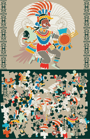 Aztec puzzle, slices and the decision Vector