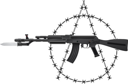 Weapon of anarchy. vector illustration Vector